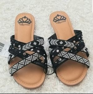 NWT Feralicious Beads Slides Sandals